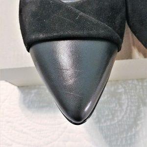 Clarks Shoes - CLARKS Linvale Vena Black Leather/Suede Pumps 9M